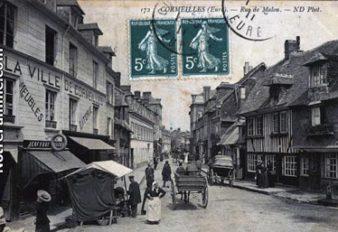CORMEILLES HIER 11 entrée rue Malou marché
