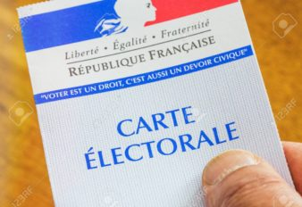 French electoral card for 2017 presidential and legislatives elections